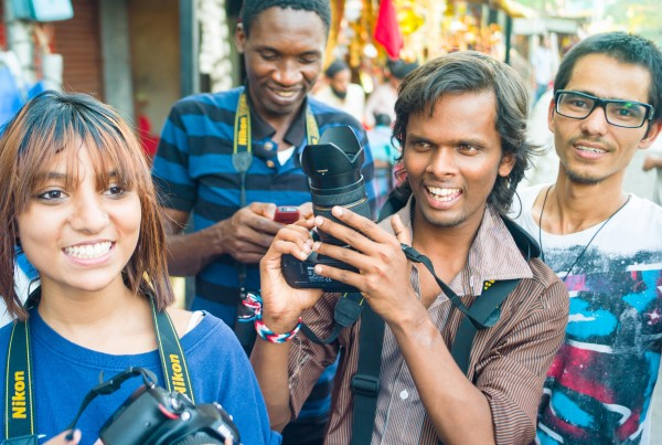 India: Students Learning Photography in Pune