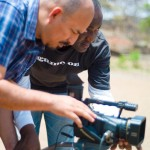 India: Ishaya (staff from Nigeria) teaches Ernesto (Bolivia) videography