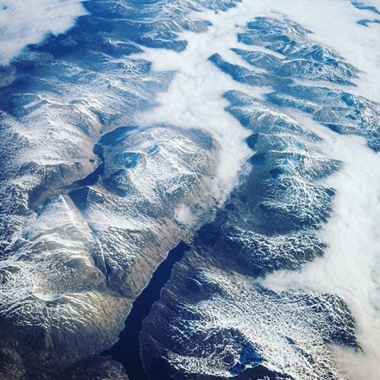 Mountain Ridges, aerial view over Scotland