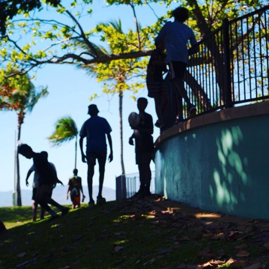 The local kids hanging out - Townsville, Australia